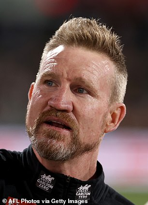 After: But he sported a noticeably smoother complexion during the Magpies' match against the Crows in Adelaide on Saturday