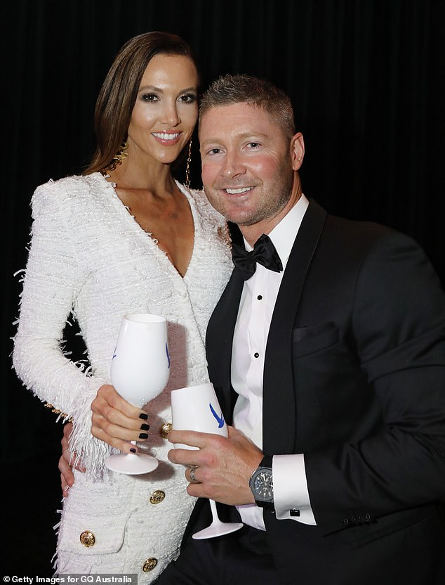 Setting the record straight: Michael downplayed rumours he's back together with ex-wife Kyly last week, saying the pair are just friendly co-parents and not a couple. Pictured in2018