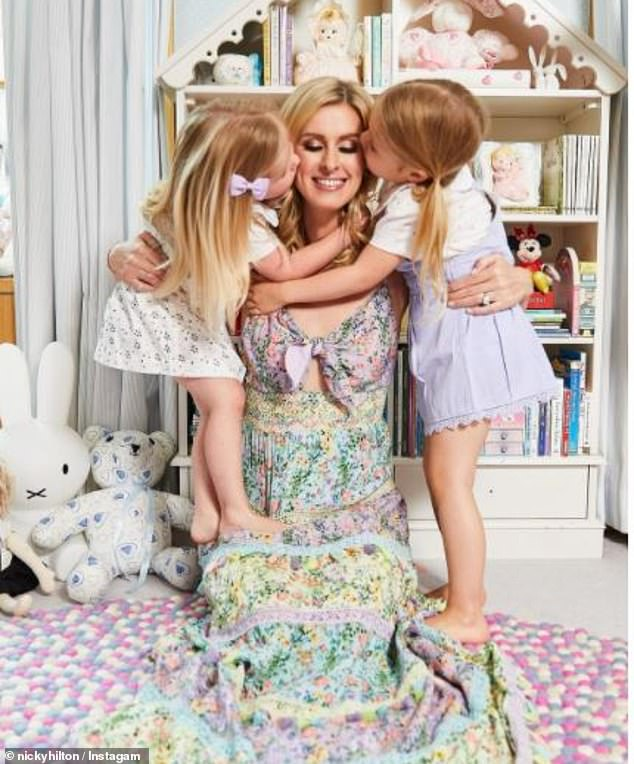 Cute: Nicky and James welcomed their elder daughter Lily-Grace, four, in 2016, and their younger daughter Teddy, three, was born five days before Christmas 2017