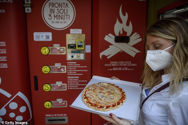 On social media, many have mocked a city where wood-fired pizza has been a favourite for centuries - saying the machine is 'sacrilege'