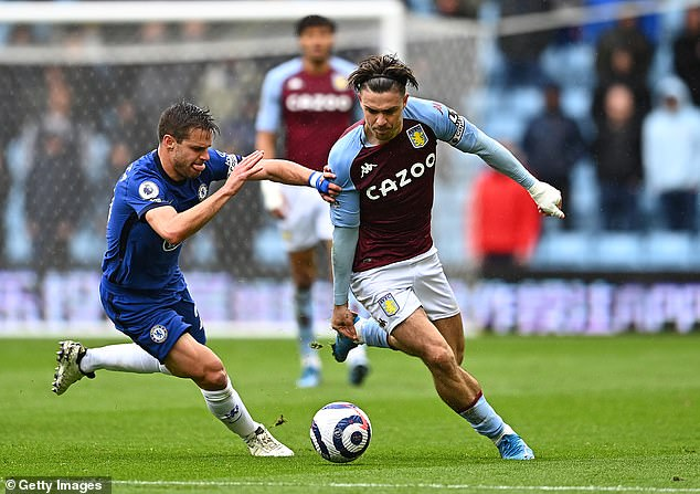 Aston Villa fans will be fearful that Buendia's arrival paves the way for Jack Grealish's (R) exit