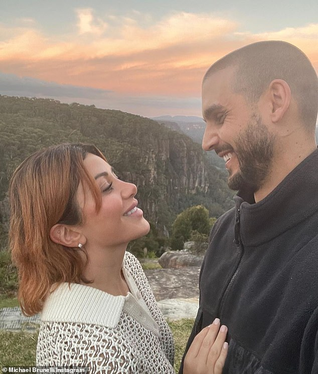 'Putting the absolute HEAT on me': Michael Brunelli's mother hilariously pressured him to PROPOSE to Martha Kalifatidis on her 33rd birthday on Tuesday, in a text message exchange