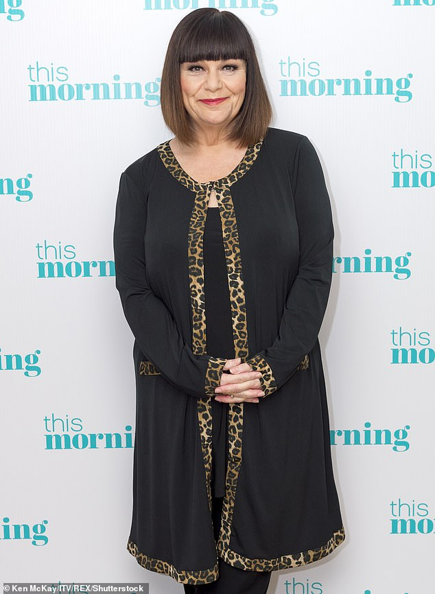Hitting back: Dawn French called out a fake diet advert using her images on Monday and branded it as 'b******s' in an impassioned tweet