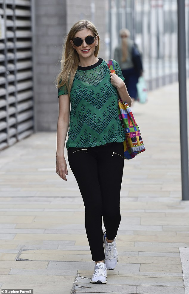 Radiant: Rachel looked stunning as she stepped out after work on the show