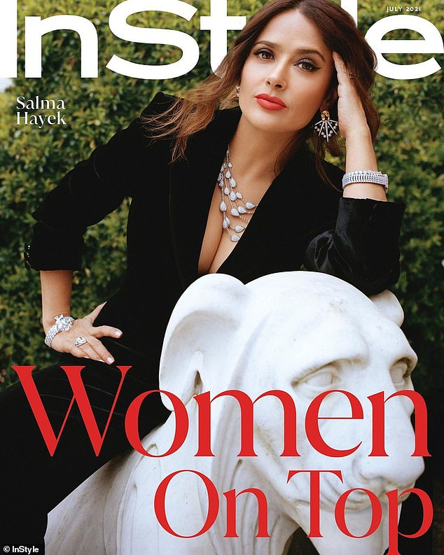 Relatable: Salma Hayek admitted she's been having trouble shedding the extra weight she gained for her upcoming role in House Of Gucci while talking to InStyle for their new issue
