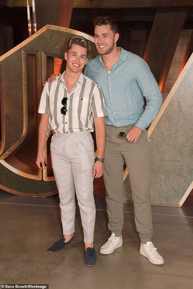 Siblings:Former Love Islander Curtis Pritchard also attended the screening alongside his brother, former Strictly professional AJ