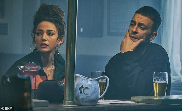 Love story:Meanwhile, series two ended on a cliffhanger as Vinnie confessed his true feelings for single mum Erin, just as he was being carted off by the police