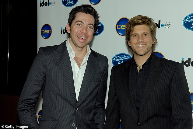 Best friends: Osher and James hosted Australian Idol together for the first six seasons - beginning in 2003