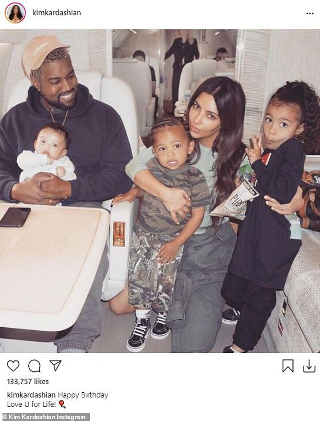 Still affectionate: Kanye wife Kim Kardashian, 40, filed for divorce back in February, but even amid their marital turmoil she shared a sweet birthday tribute to her soon-to-be ex-husband