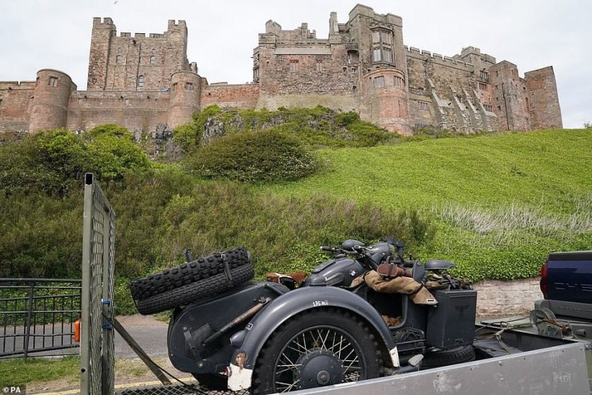 Historic:Bamburgh Castle is said to be haunted by a ghost. The Sun reported last week that the movie crew are 'spooked' by the famed Pink Lady said to roam the location