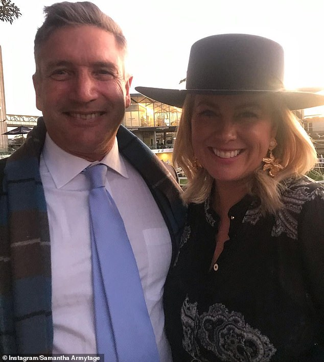 Change of pace: The former TV presenter said: 'I'm semi-retired,' before adding, 'But I'll go again, I'm just having a break.' Sam is pictured with husband Richard Lavender