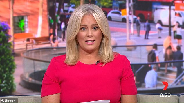 Calling quits: Sam tearfully announced she resigned as host of Sunrise in March, saying: 'I want to step out of this public world for a while and take some time and calm things down, enjoy a bit of slow living, and spend some time with my precious family, my husband and [dog] Banjo'