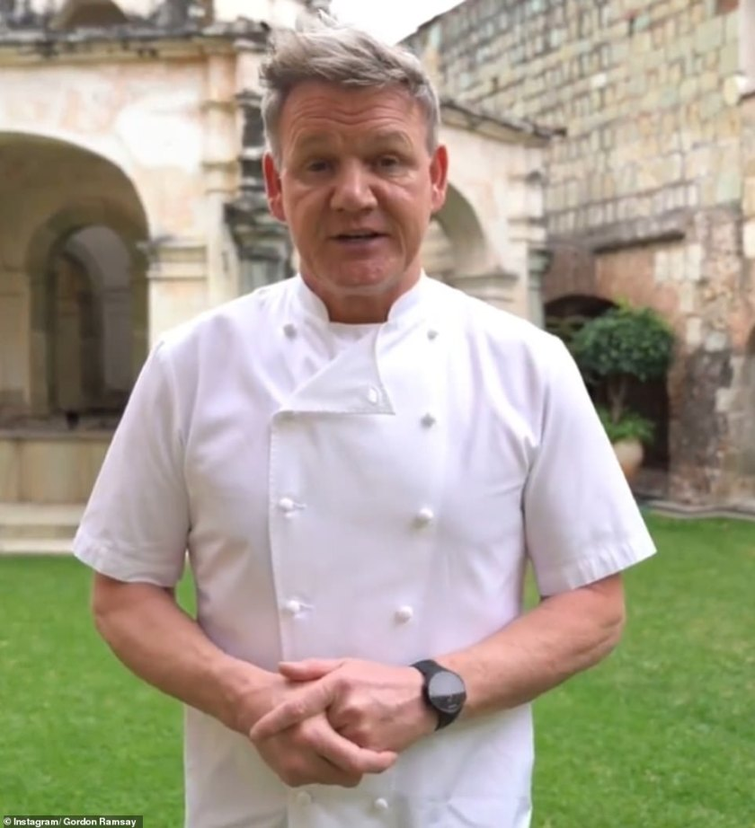 Huge impact:Earlier this year, Gordon revealed he has lost £57million during the Covid pandemic after being forced to close his restaurants for much of 2020