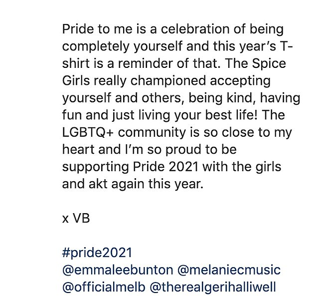 Epic!Taking to social media on Wednesday, VB shared the news with her fans, and shared photographs of her former bandmates wearing the T-shirts