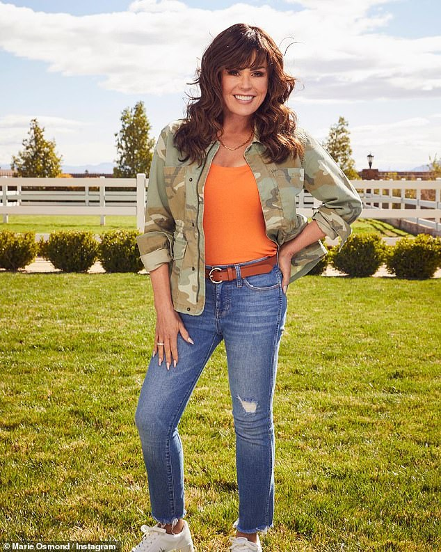 Slim!Marie Osmond lost 50lbs when she started competing on Dancing With The Stars in 2007. On Tuesday the star - who left The Talk in September - revealed she is still in great shape after lockdown as she posed in her skinny jeans