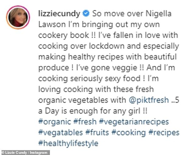 New Book: In April, Lizzie joked that she would come for Nigella Lawson's crown as she revealed she was