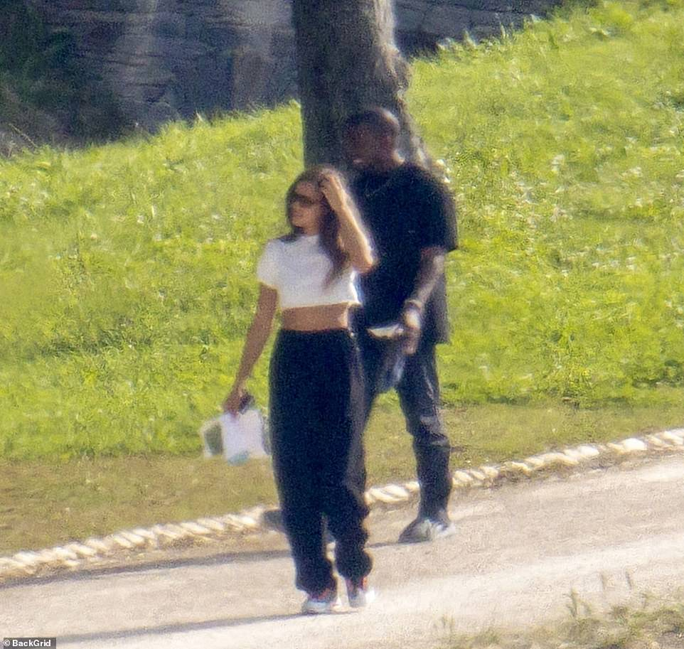 Getting close: The sighting follows intense speculation that Kanye is rebounding with Irina, amid his divorce