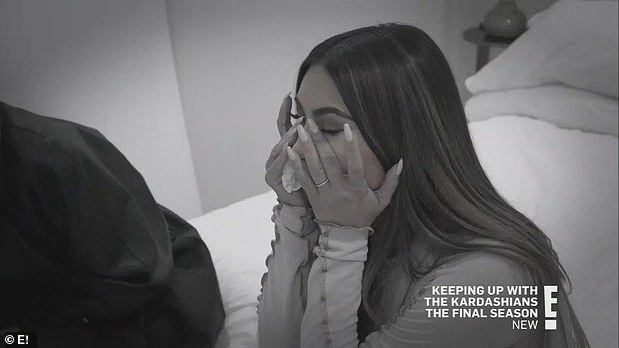 Big fight:Khloe spilled in a confessional that Kim was dealing with a lot because she and Kanye had a 'big fight' before they left on the trip