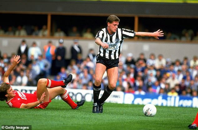 Gascoigne says that scoring in front of the Gallowgate for Newcastle was his boyhood dream