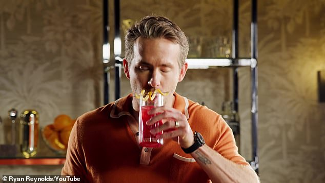 'Now that is as refreshing as fatherhood': Ryans savored the fruity cocktail