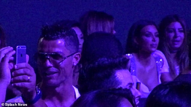Throwback:Interestingly enough, Kim and Cristiano were finally seen together - although it occurred six years after their brief relationship. Kim and Cristiano and their respective parties were next to each other at a Jennifer Lopez concert in Las Vegas in August 2016