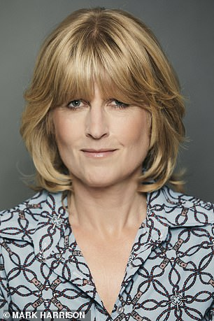 Rachel Johnson (pictured) claims hugging Lycra is far more attractive than tracksuit bottoms