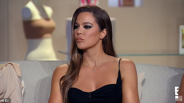 Tough talk: Khloe Kardashian was taken aback when Andy Cohen addressed her on-again, off-again relationship with Tristan Thompson amid a host of cheating allegations