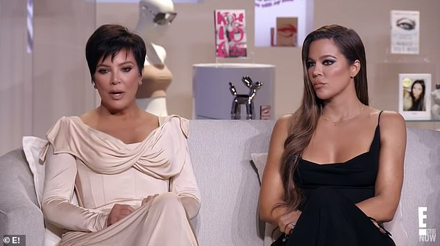 Tough times:Khloe joined momager Kris Jenner and younger sister Kylie on a couch across from Kim, Kourtney and Kendall as the Bravo patriarch asked the hard-hitting questions