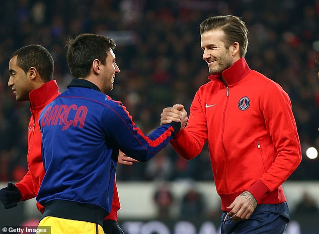 Mas claims Beckham (right) signing up Messi (left) would complete Miami's world class team