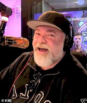 Who knew they were friends? Kyle Sandilands (pictured) received a 50th birthday message from Donald Trump Jr. on Thursday. The video was posted to The Kyle and Jackie O Show's Instagram page