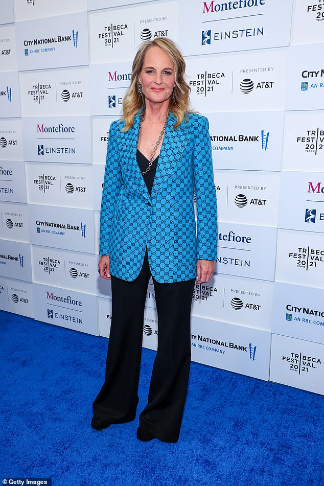 Red carpet ready:Helen Hunt was red-carpet ready to hit the world premiere of the upcoming musical In the Heights on Wednesday
