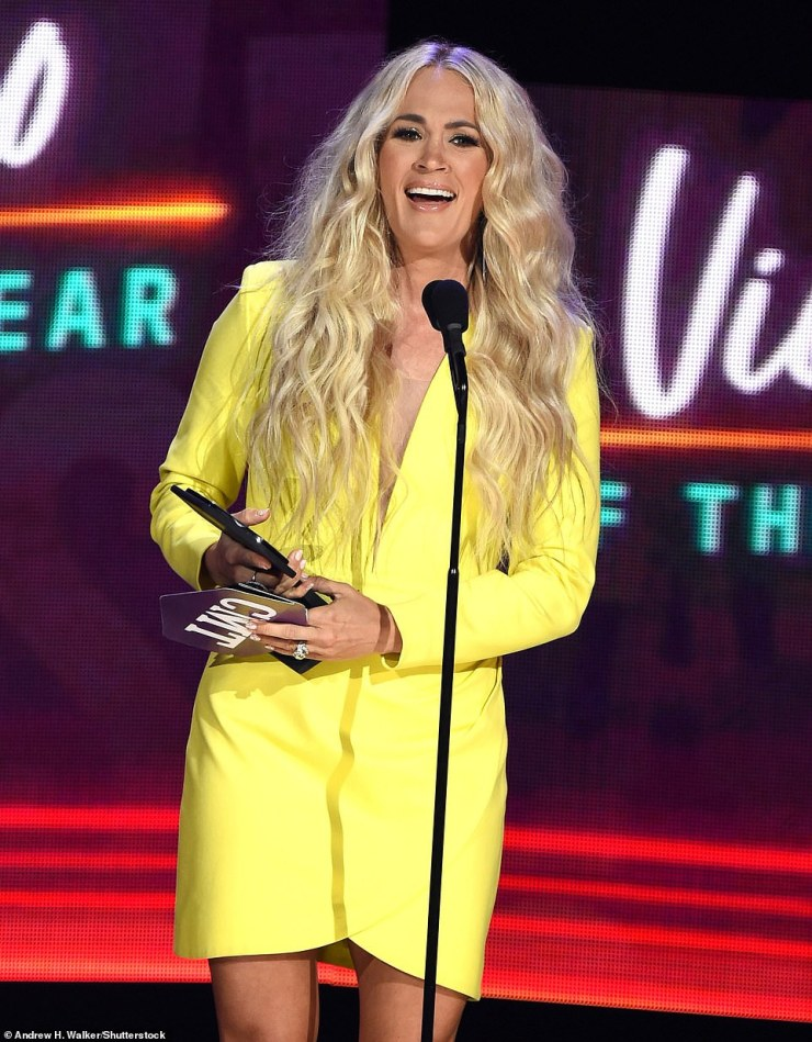 Carrie Underwood capped off the 2021 CMT Music Awards on Wednesday night be winning the evenings final and most-prestigious prize, the coveted Video of the Year award