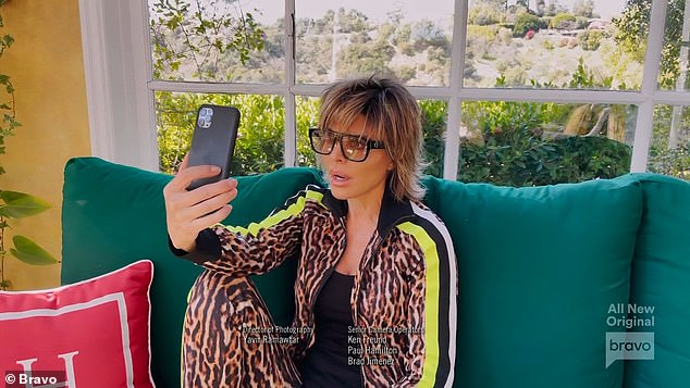 Group text:The 49-year-old reality star made the revelation on Election Day in November 2020 just four days after the cast returned from a group trip to Lake Tahoe, California