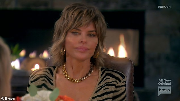 Hot seat:Lisa was on the hot seat during dinner as Garcelle refused to let her off the hook for her treatment last season of their mutual friend Denise Richards