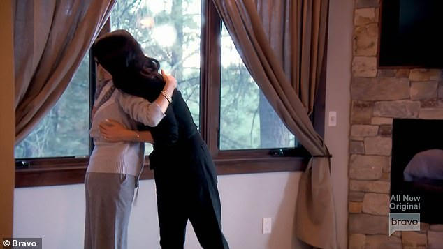 Making up: Sutton and Crystal hugged it out after talking again before leaving Lake Tahoe