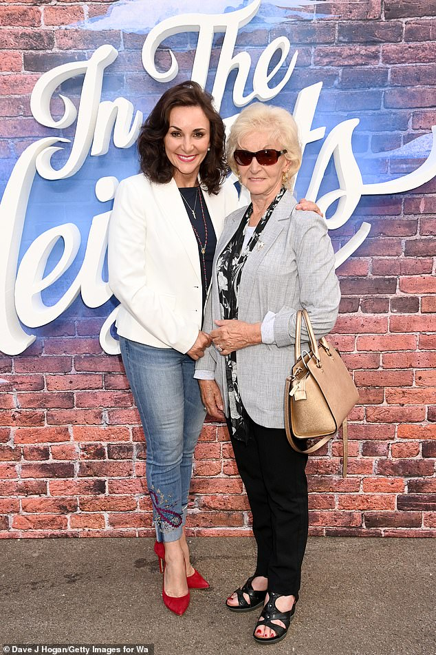 Radiant:The Strictly judge looked radiant for the evening in skinny jeans, a navy T-shirt and white blazer