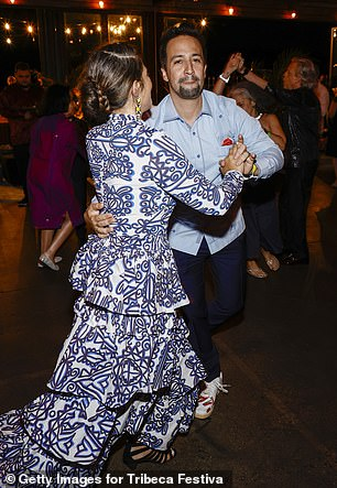 ENJOY: The duo, who still rocks red carpet ensembles, threw a variety of dance moves as they moved across the floor together.