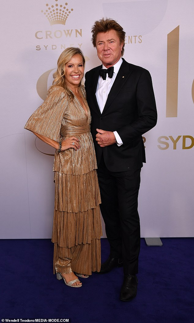 Razzle dazzle!Richard Wilkins and girlfriend Nicola Dale (pictured) looked as loved up as ever as they posed at the event