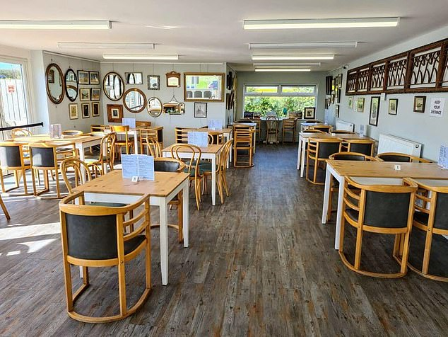 The Drift Cafe in Northumberland, which is a 30-second stroll from Cresswell Beach