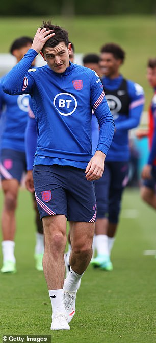 Harry Maguire is back in training with England