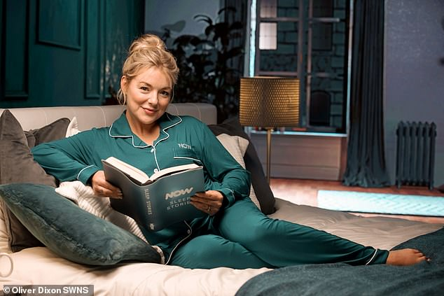 40 winks:Sheridan Smith, 39, has narrated a series of bedtime stories inspired by Game of Thrones and The Secret Gardento help people across the UK drift off