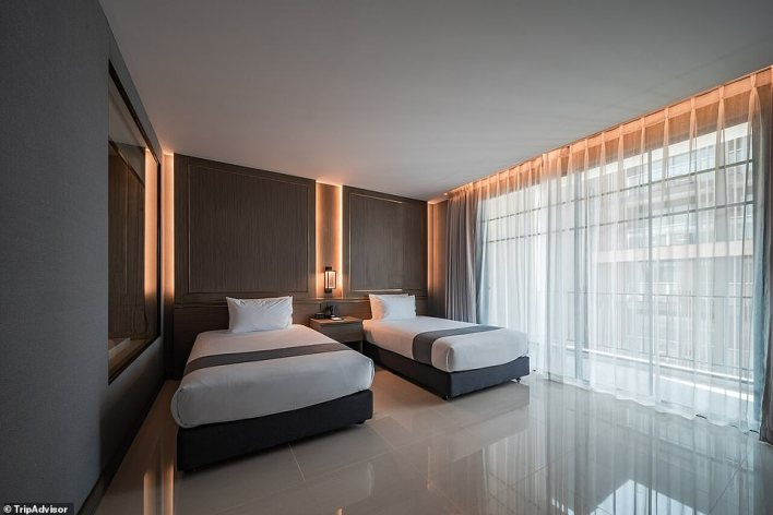 8. MANDARIN EASTVILLE HOTEL, PATTAYA, THAILAND: Tripadvisor has listed this as one of its 'top picks' in the city of Pattaya. 'Rooms feature elegant touches of the oriental art of Zen and classic western style, with decor designed to aid in relaxation,' says the site. User 'Nii Natthamon', who stayed at the property in April, writes: 'If you are looking for a nice place to relax, I highly recommend this hotel'