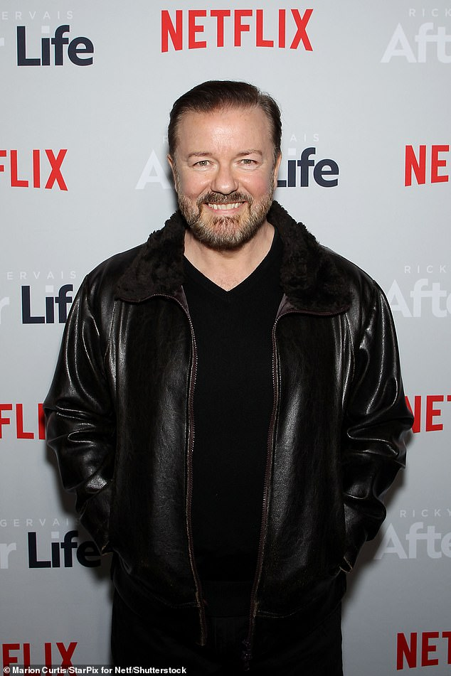 Kerching! Ricky Gervais, 59, has seen his UK fortune rocket to almost £16 million during the pandemic, figures for his business empire show