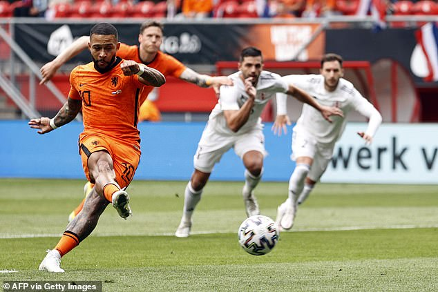 Memphis Depay has been a standout player for Holland in their disappointing warm-up games