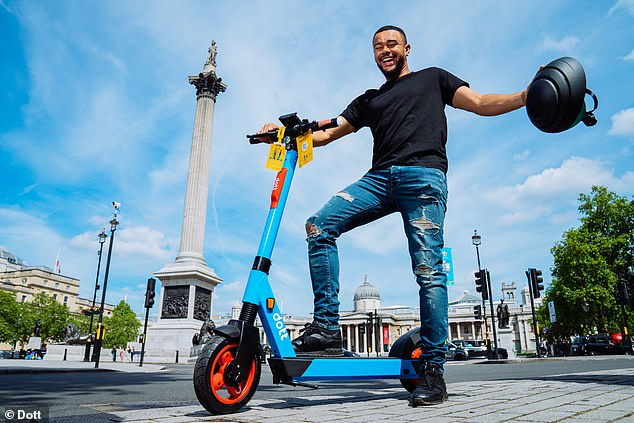 Vroom vroom: Wes is working with micro mobility company Dott on their campaign to get Londoners rediscovering the city's landmarks with e-scooters