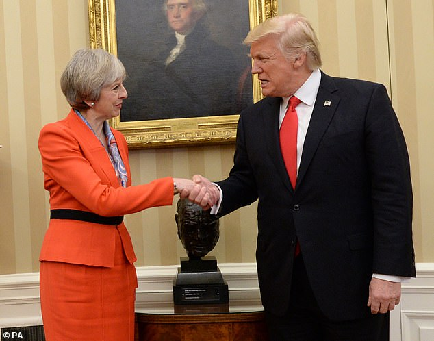 When Theresa May visited Washington in January 2017 she gave Mr Trump a quaich - a traditional Scottish cup of friendship