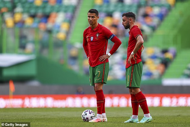Steph Houghton believes Portugal will win, mainly because of Cristiano Ronaldo (left) and Bruno Fernandes (right)