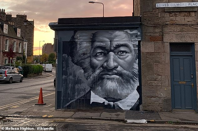 The image, painted by Ross Blair, is part of a mural trail around Edinburgh and the photograph was taken by Melissa Highton – a UK-US dual national