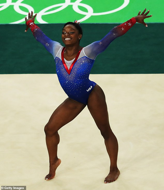 Mission:'Representation matters, and we want to inspire the next generation to pursue their passion,' Biles said of her family-owned gym. She's pictured at the 2016 Olympics in Rio