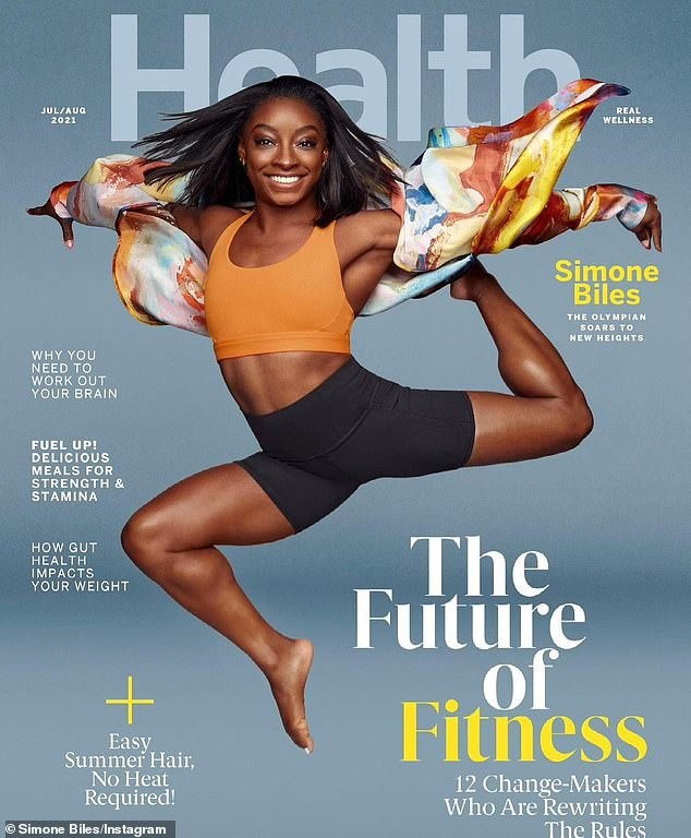 Cover star: Simone Biles, 24, graces the cover of Health magazine's July/August issue